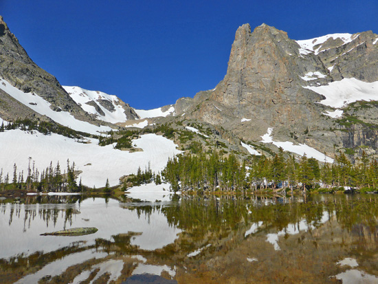 Lake Helene (10,643') under Notchtop Mountain in Rocky Mountain National Park